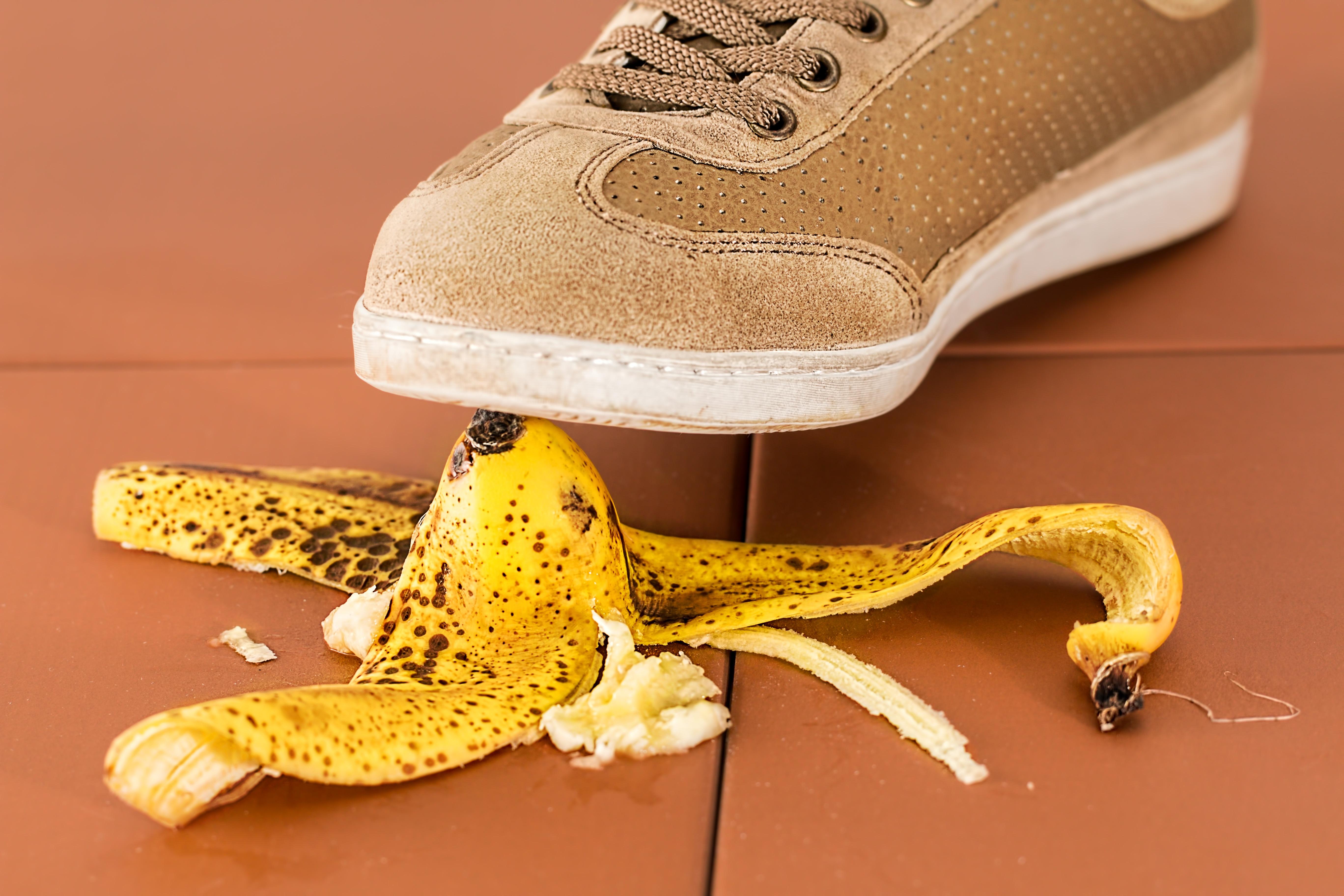 Glider en en bananskræl